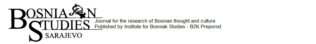 Bosnia Studies: Journal for research of Bosnian thought and culture